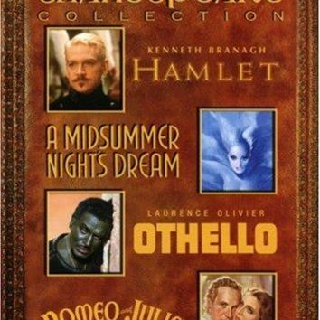 Kenneth Branagh & Laurence Olivier - Shakespeare Collection: (Hamlet 1996 / A Midsummer Night's Dream 1935 / Othello 1965 / Romeo & Juliet 1936)
