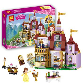 379pcs Beauty and The Beast Princess Belle's Enchanted Castle Building Blocks Girl Kids Toys Birthday Gifts