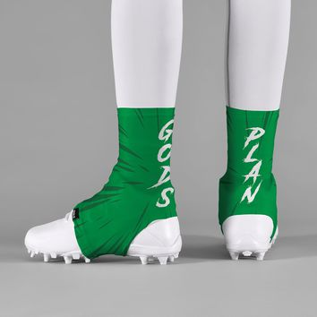 God's Plan Green Spats / Cleat Covers
