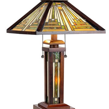 Arts & Crafts Innes Table Lamp with Lighted Base