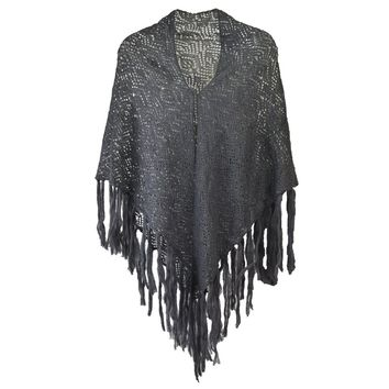 Crochet Ruana with Fringe
