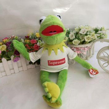 37cm Ty Toy Kermit the Frog Plush Toy The Muppet Show Sesame Street Character With Sup