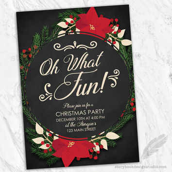 Oh What Fun Christmas Party Invitation