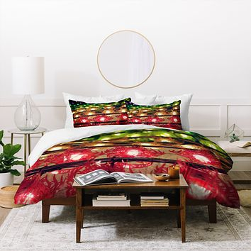 Catherine McDonald Rainbow Lanterns Duvet Cover