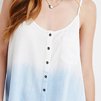 Buttoned Dip-Dye Cami