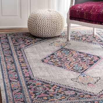 SeasonedSW01 Eternal Palmette Knot Medallion Rug