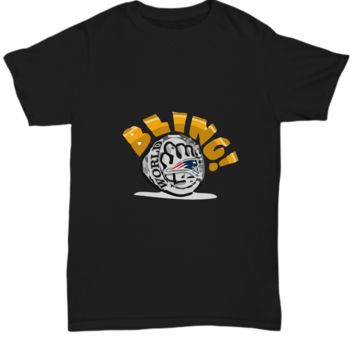 Bling! Football Champ Gold Ring Boston T-Shirt