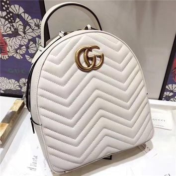 Gucci GG Marmont Quilted Leather Backpack