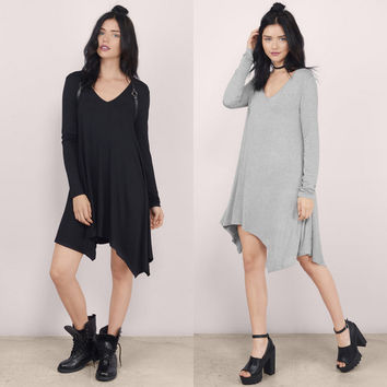Sexy Womens Long Sleeve Long Casual Shirt Loose Tops Blouse Tunic Mini Dress