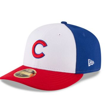 New Era Chicago Cubs White/Red Front N Center Low Profile 59FIFTY Fitted Hat
