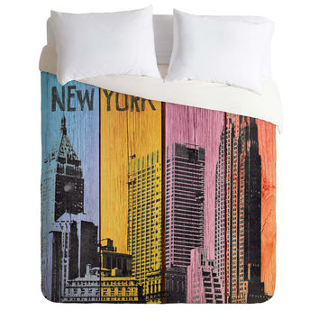 Irena Orlov New York Downtown Duvet Cover