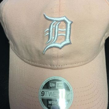 ESBON MLB Detroit Tigers Women's Light Pink 9Twenty Preferred Pick Adjustable Hat
