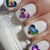 Galaxy Heart Nail Decals