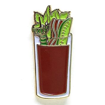 Bloody Mary Cocktail Enamel Pin