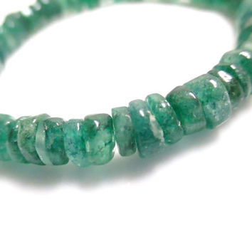 Emerald Green Aventurine Stretch Bracelet - Statement Bracelet - Stacking Bracelet