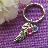 Miscarriage Jewelry - Miscarriage Keychain - Miscarriage Keepsake - Gift - Daddy of an angel - Infant loss - Memorial - pale - Aware