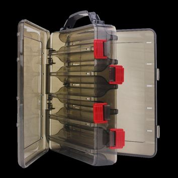WALK FISH Double Sided 10 Compartment Carp Fishing Box Accessories Lures Bait Storage Box Shrimp Boxes Fishing Tackle Pesca