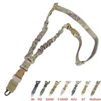 Tactical One Point Bungee Gun Sling Strap Adjustable Rifle Sling Hunting Single Point Safety Gun Strap Airsoft Shoot Accessories