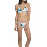 Banana Leaf Triangle Bikini - Dora Palm Green