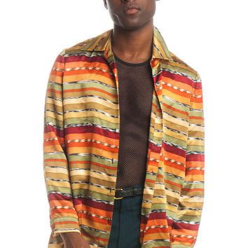 Vintage 90's Silky Smooth Button-up - S/M