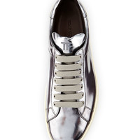 TOM FORD Mirrored Leather Low-Top Sneaker