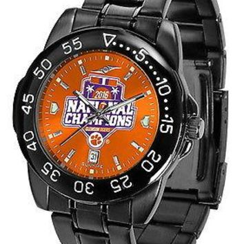 Clemson Tigers Mens Fantom Watch 2016 Championship Gunmetal Finish Orange Dial