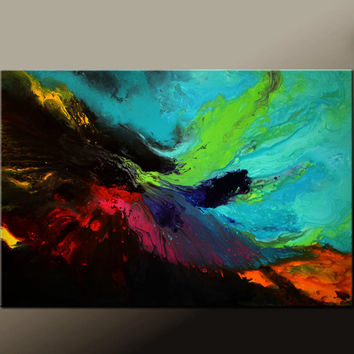 Abstract Canvas Art Painting Canvas HUGE 72X48 Original Contemporary Paintings by Destiny Womack - dWo -  Free S&H