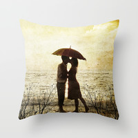 Love beach Throw Pillow by Tony Vazquez