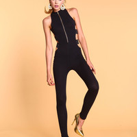 High Neck Cage Jumpsuit