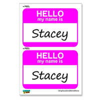 Stacey Hello My Name Is - Sheet of 2 Stickers