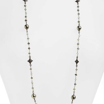 Armenta Old World Diamond, Pearl & Semiprecious Stone Beaded Necklace | Nordstrom