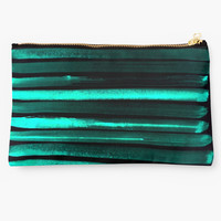 'We Have Cold Winter Teal Dreams At Night' Studio Pouch by ANoelleJay