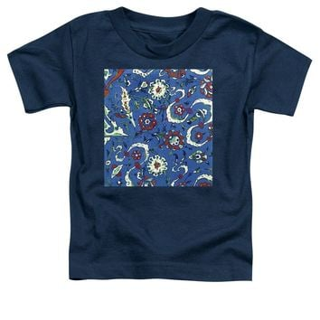 An Ottoman Iznik Style Floral Design Pottery Polychrome, By Adam Asar, No 15a - Toddler T-Shirt