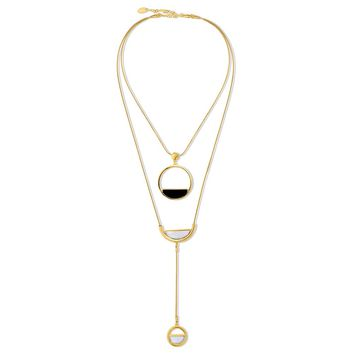 Gold-Tone Open Circle Layered NecklaceBe the first to write a reviewSKU# n1330-02