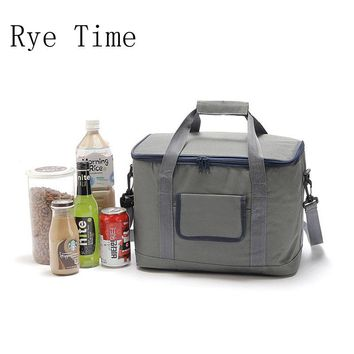 2017 new branded thermal picnic cooler lunch box bag insulated cool handbag ice pack thermo shoulder bags bag food storage 18L