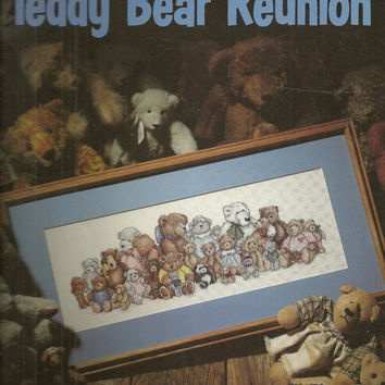 Cross Stitch Chart Pattern Teddy Bear Reunion by debspatterns55