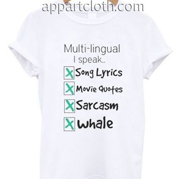 Multi lingual I Speak Quote Funny Shirts, Funny America Shirts