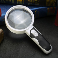 20 times high definition dual mirror optical band light reading 100mm antique magnifying glass magnifier