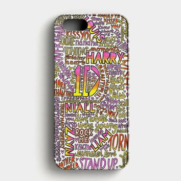 One Direction Harry Styles Tattoos iPhone SE Case