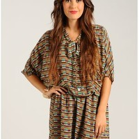 Purple On The Rebound Blouson Printed Dress | $14.50 | Cheap Trendy Casual Dresses Chic Discount Fas
