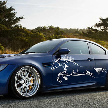 horse car hood decal horse Car Decals horse Car Truck horse Side Body Graphics Decal horse Sticker for car kikcar67
