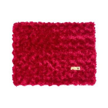 Plush Blanket — Curly Sue Red