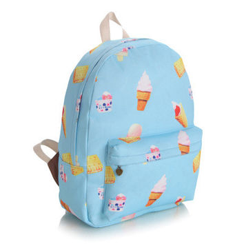 Cute Canvas Korean Lovely Backpack = 4887495108