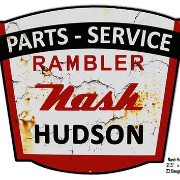 Nash Hudson Parts Laser Cut Out Wall Art Reproduction 17.5″x21.5″ Metal