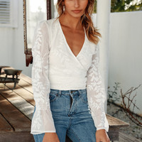 All Over Me Top White