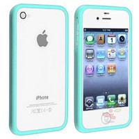 Amazon.com: Shiny Blue TPU Rubber Bumper Case for Apple iPhone 4 / 4S: Cell Phones & Accessories