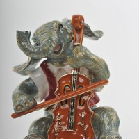 Elephant Playing the Cello