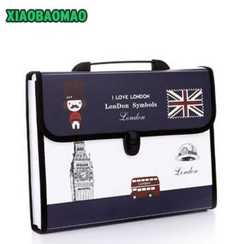 12 layers Durable Waterproof Book A4 Paper File Folder Bag Accordion Style Document Rectangle expanding wallet Office School