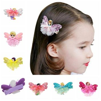 20pcs Girls Fairy Princess Lace sequins Hairpins Butterfly
