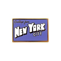 New York Postcard Pin